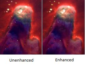Jesus In A Nebula